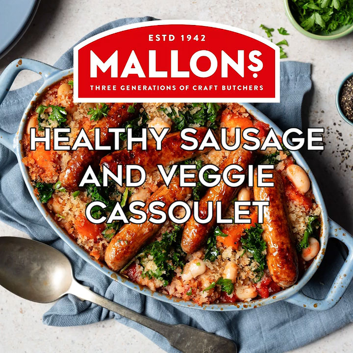 mallons healthy sausage and veggie cassoulet